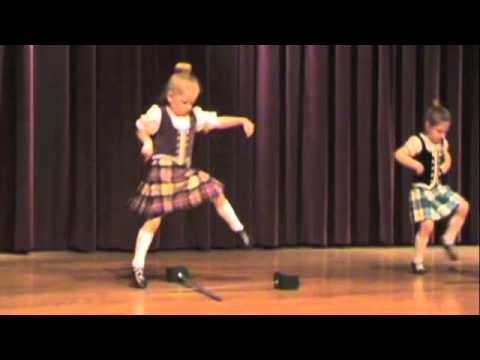 Primary highland dancing, sword dance