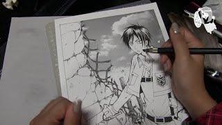 �������� ���� Eren Yeager. Atack on Titan. Speed Manga Drawing. Эрен. Атака Гигантов. Арт ������