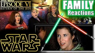 Star Wars Episode 6 | Return of the Jedi | FAMILY Reactions | Fair Use