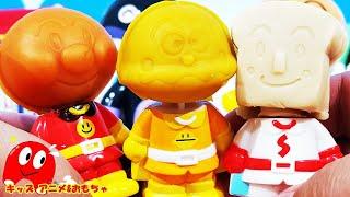 【ねんど遊び】アンパンマン,食パンマン,カレーパンマンの新しい顔を作るよ!