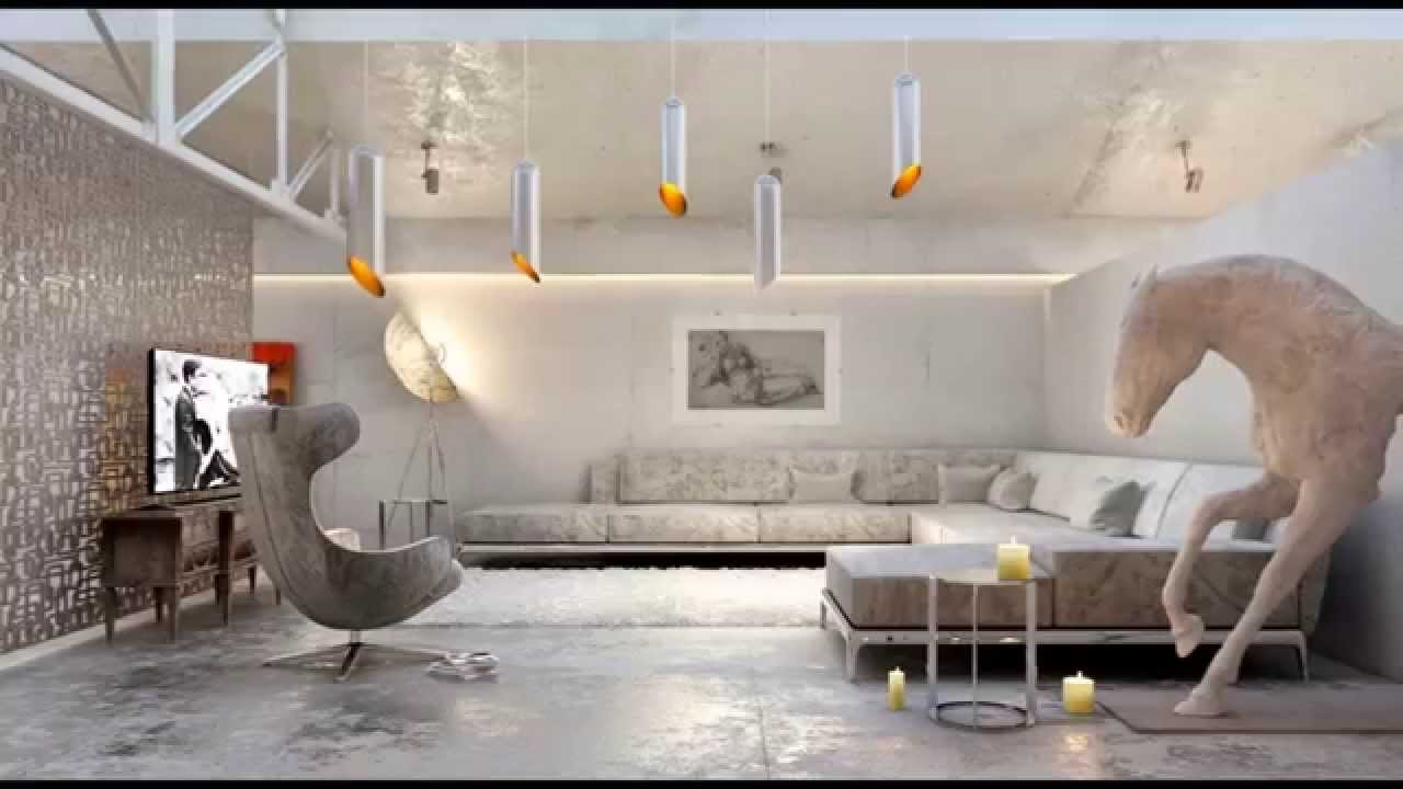 Interior Design - Living Room With Modern Sofas - YouTube