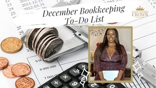 December Bookkeeping To-Do List