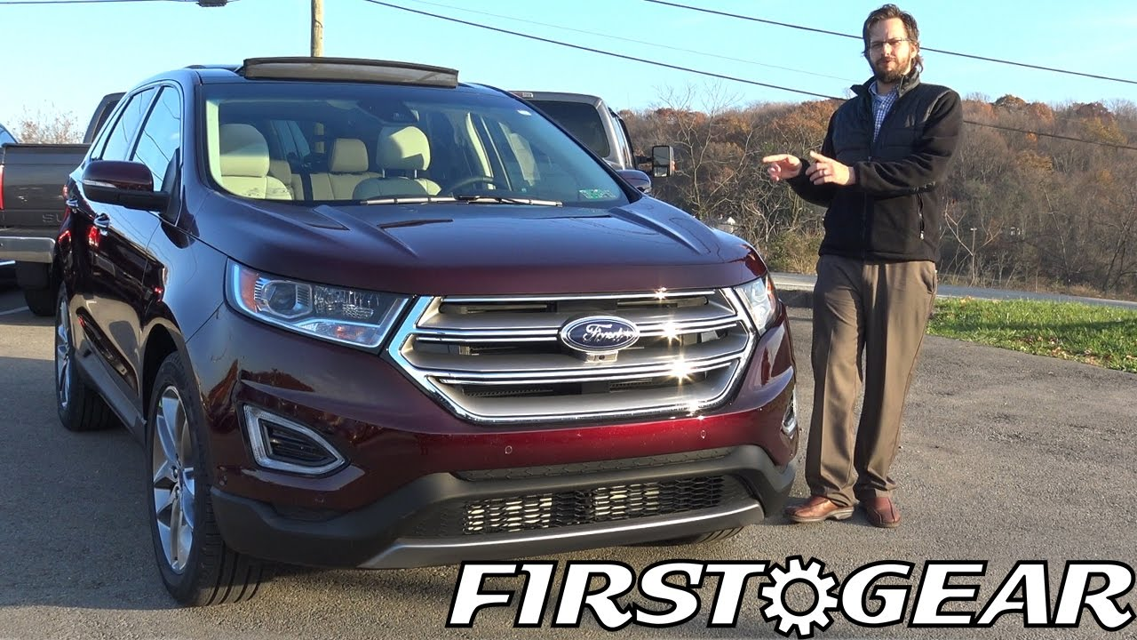 first gear 2017 ford edge titanium review and test drive. Black Bedroom Furniture Sets. Home Design Ideas