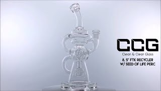 """CCG 8.5"""" FTK Recycler w/ Seed of Life Perc"""