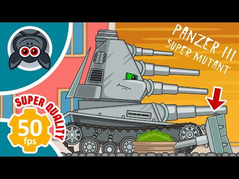 Creation. Zombie virus. Day 6. Cartoons About Tanks