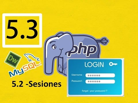 05.3.- Curso Php, Mysql con Dreamweaver (Rápido) :Sesiones, login y password
