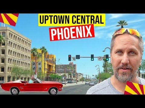 Uptown Central Phoenix, AZ Driving Tour: Living In Phoenix, Arizona