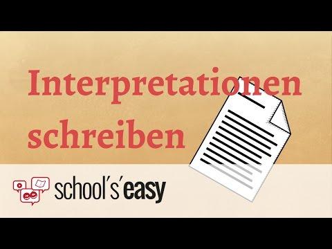 Wie schreibt man eine Interpretation?