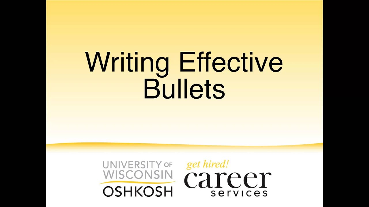 writing effective bullet points