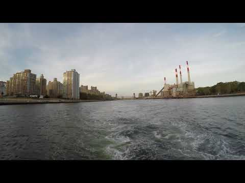 ⁴ᴷ NYC Ferry - Astoria to Wall Street/Pier 11 Full Ride during Sunset (Astoria Ferry Route)