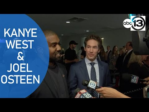 Kanye West and Joel Osteen answer questions after service