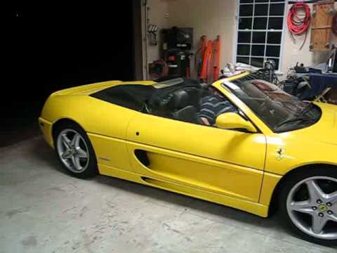 Ferrari F355 Spider Convertible Top & Seat Operation - YouTube
