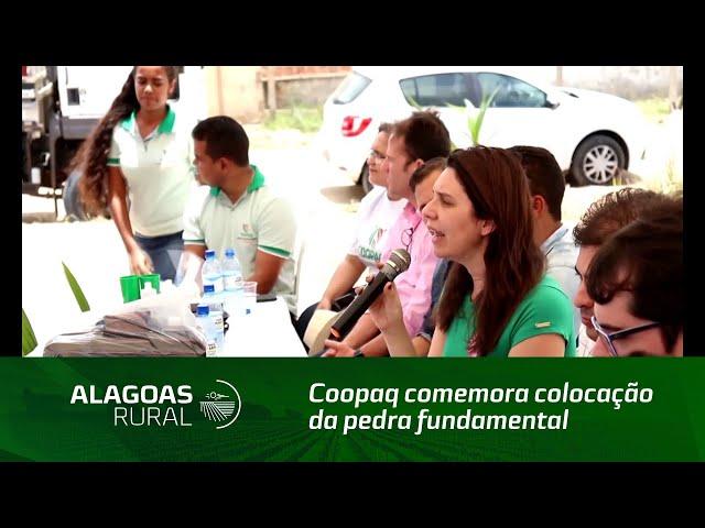 Coopaq comemora colocação da pedra fundamental para suas futuras instalações