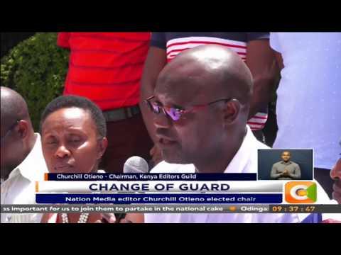 Nation Media editor Churchill Otieno elected chair to Editors Guild