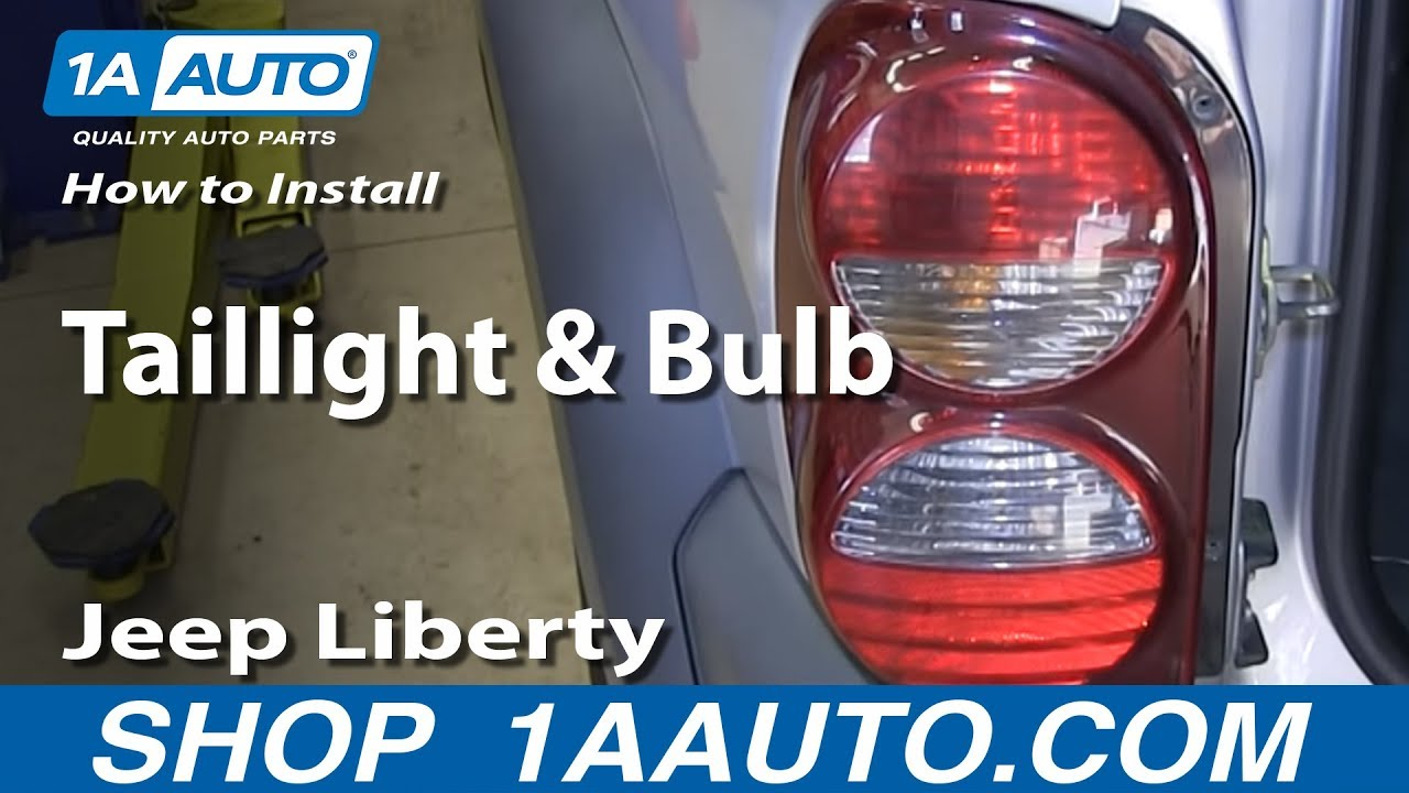 How To Install Replace Change Taillight And Bulb 2002 07 Jeep Wiring Schematic For 2006 Liberty Youtube