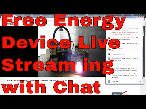 Free Energy Device - Innova Tehu Eu D1943 Livestream with Chat 1/2
