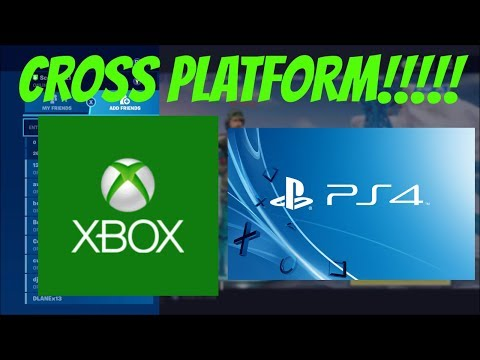 FORTNITE- HOW TO PLAY CROSS PLATFORM XBOX ONE AND PS4 (FORTNITE SEASON 7 CROSS PLATFORM GUIDE)