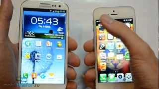iPhone 5 vs Samsung Galaxy S 3 (speed comparison): сравнение скорости