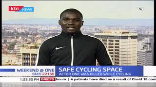 Cyclists hold protest in Nairobi after one was killed while cycling earlier in the week