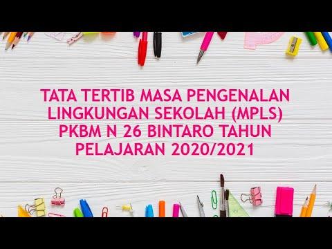Pelaksanaan MPLS 2020 PKBM NEGERI 26 Bintaro Hari Pertama