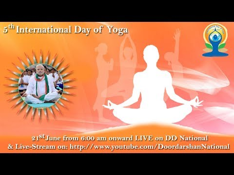 5th International Yoga Day Celebrations - LIVE from Prabhat Tara School Maidan, Ranchi, Jharkhand