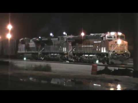 BNSF/ CP Rail / FXE General Freight Arrival Backing up Tulsa, OK vid 10 of 17