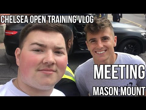 MEETING MASON MOUNT | CHELSEA OPEN TRAINING VLOG