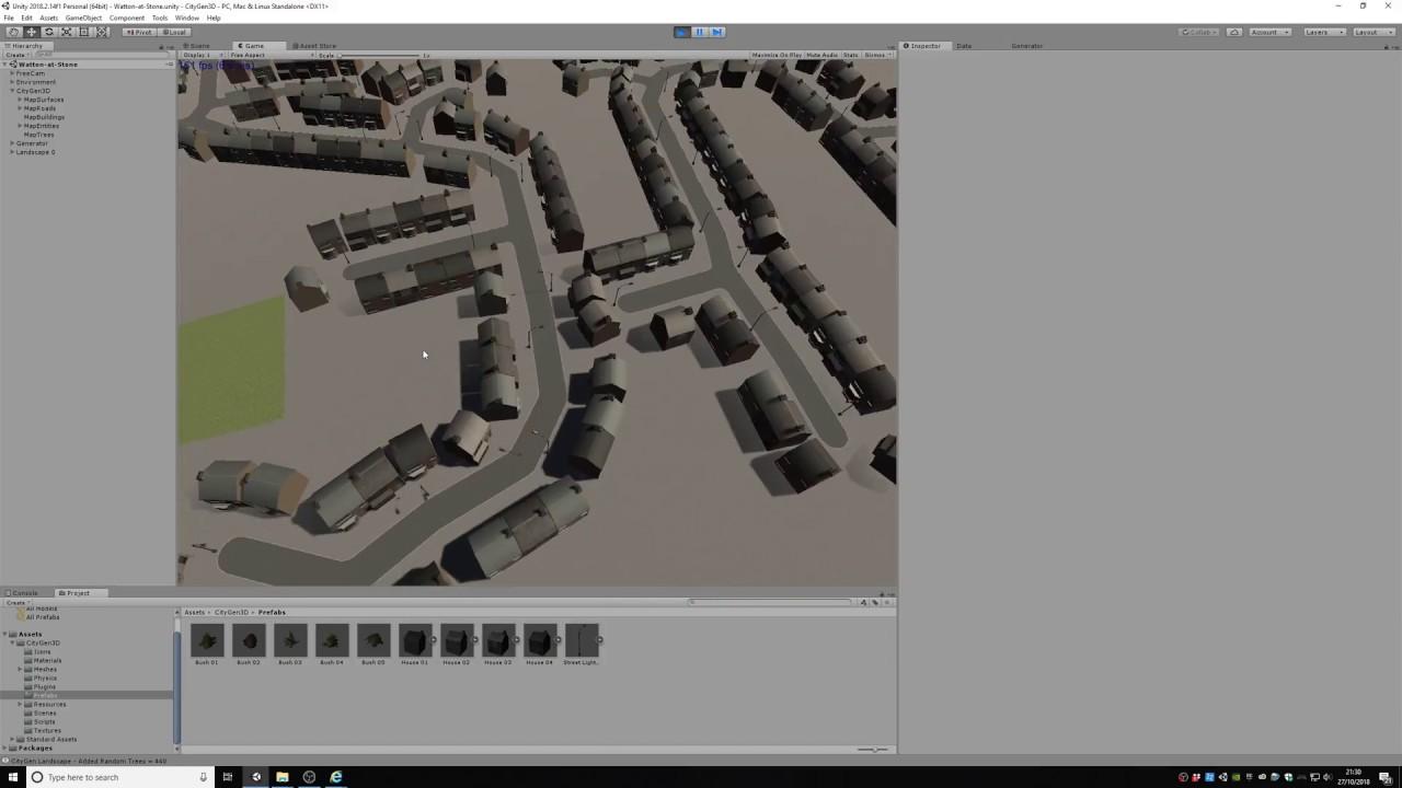 Assets - [BETA RELEASED] CityGen3D   Procedural city generation from
