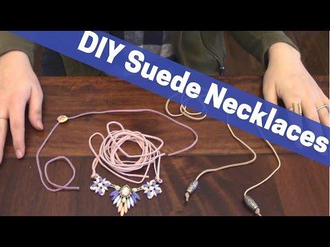 Simple DIY Suede Choker Necklaces + Bolo Tie