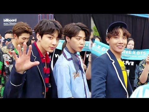 [UP-CLOSE CAM] BTS | JUNGKOOK & JHOPE NOTICED ME! | BBMA 2018 PART 1