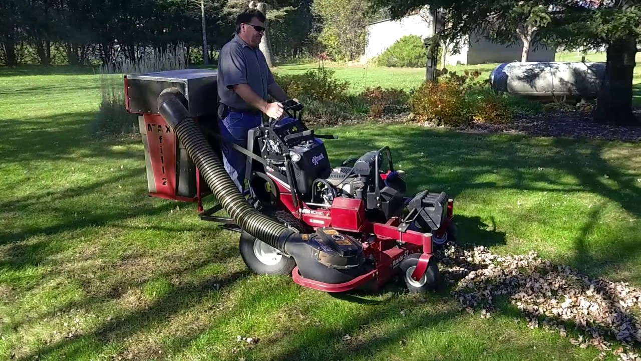 Stand On Mower Bagger Red Magic Performance Maxfill2