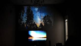 TV vs Projector - 50 Inch HD TV compared to 120 Inch HD Projector - 4K Video