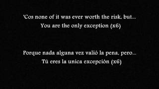 The Only Exception - Paramore (english + spanish lyrics/ Letra en español e inglés)