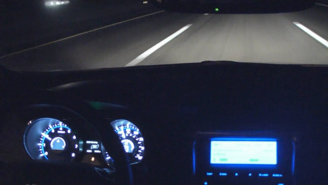 2011 Hyundai Sonata Inside Highway Driving At Night 1080p