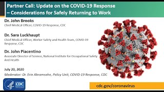 CDC COVID-19 Partner Update: Non-healthcare Workplace Contract Tracing and Testing Strategy