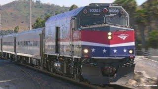 Trains in Laguna Niguel, CA 4K Panasonic HC-X1 Daylight, Low light & Night TESTS