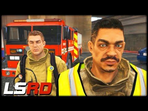 GTA 5 LSRD | Teamwork mit dem Kollegen - Deutsch - Grand Theft Auto 5 Los Santos Rescue Division thumbnail