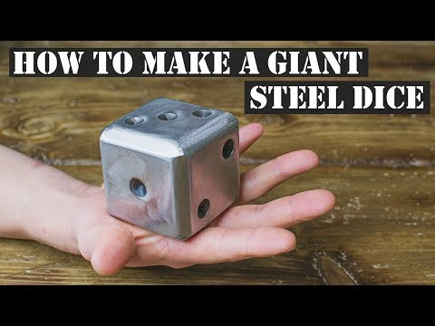 HOW TO FABRICATE A GIANT STEEL DICE. BEGINNERS WELDING PROJECT