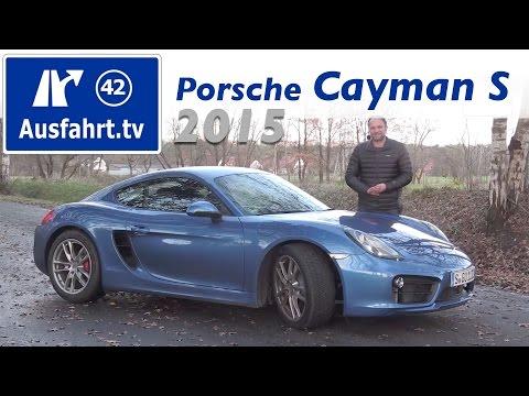 2015 Porsche Cayman S - Fahrbericht der Probefahrt, Test,  Review (German)