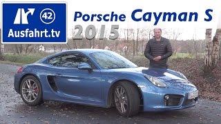 2015 porsche cayman s fahrbericht der probefahrt test review german