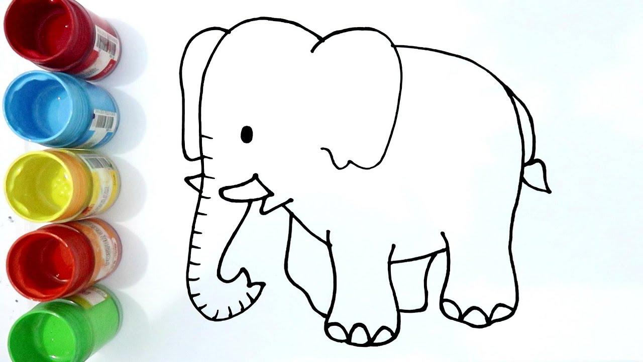 Cara Menggambar Gajah Yang Sangat Mudah Untuk Pemula By