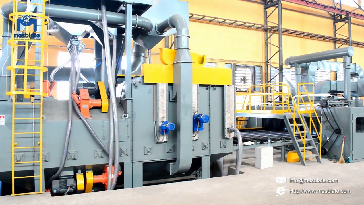 Steel Plate Shot Blasting Machine Video 1