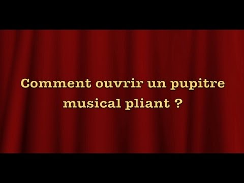 Jean-Claude Welche - Comment ouvrir un pupitre musical plian