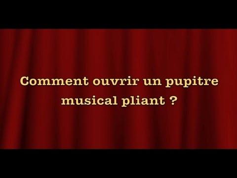 Jean-Claude Welche - Comment ouvrir un pupitre musical pliant - Tutoriel