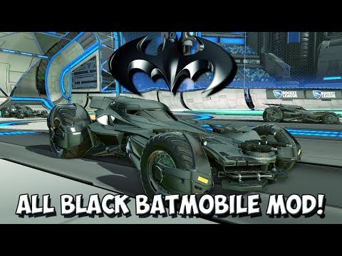 INSANE ALL BLACK BATMOBILE MOD | MODDED ROCKET LEAGUE