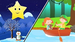 Twinkle Twinkle Little Star & Row Row Row Your Boat Best Kids Nursery Rhymes & Baby Songs collection