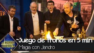 Jandro recrea toda la saga de 'Juego de Tronos' en menos de cinco minutos - El Hormiguero 3.0