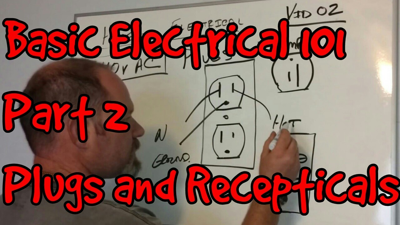 Basic Electrical 101 02 Plugs And Recepticals Youtube Residential Wiring