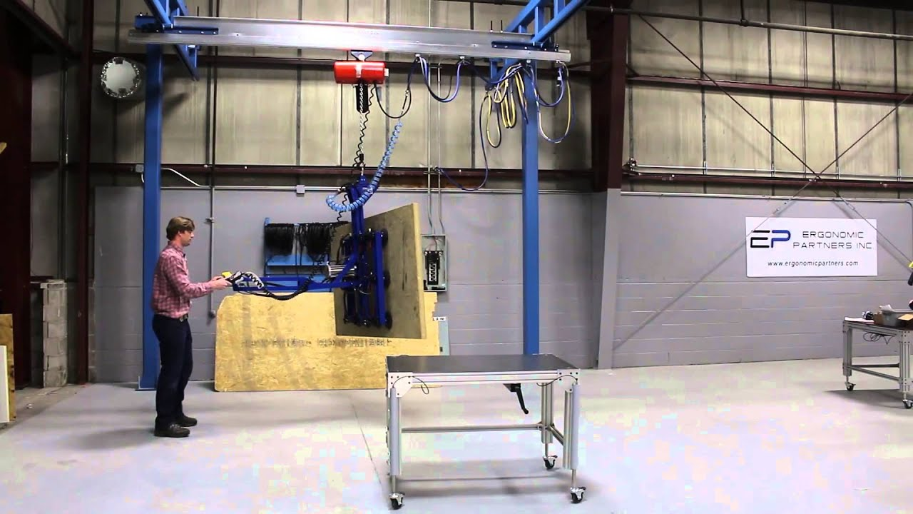 Plywood Sheet Vacuum Lifting Device Youtube
