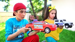 Fun Toy Cars Race with Fatima and Ismet